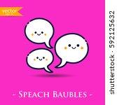speach bubbles. vector ...   Shutterstock .eps vector #592125632