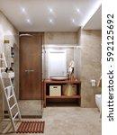 Modern Bathroom Interior With...