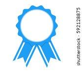 blue award ribbon on white... | Shutterstock .eps vector #592128875
