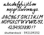 vector letters. handwritten... | Shutterstock .eps vector #592139252