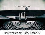 Storytelling Words Typed On A...