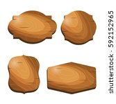 wooden vintage labels stickers...   Shutterstock .eps vector #592152965