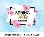 Spring Sale Vector Banner...