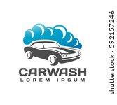 car wash logo. car icon. auto...   Shutterstock .eps vector #592157246