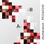 vector square elements on gray... | Shutterstock .eps vector #592162142