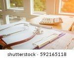 health care costs concept... | Shutterstock . vector #592165118