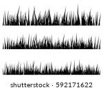 grass silhouette vector symbol... | Shutterstock .eps vector #592171622