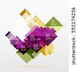 modern square composition ... | Shutterstock .eps vector #592174256