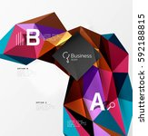triangle mosaic vector abstract ... | Shutterstock .eps vector #592188815
