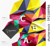 triangle mosaic vector abstract ... | Shutterstock .eps vector #592188986