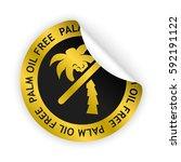 vector gold bent sticker with... | Shutterstock .eps vector #592191122