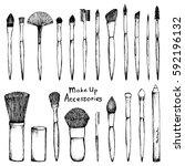 make up   set of black hand...   Shutterstock .eps vector #592196132