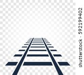 isolated rails  railway top... | Shutterstock .eps vector #592199402
