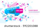 spring sale shopping special... | Shutterstock .eps vector #592201088