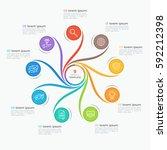swirl style infographic...   Shutterstock .eps vector #592212398