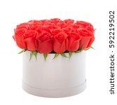 red roses in white luxury... | Shutterstock . vector #592219502