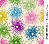 multicolored geometric seamless ... | Shutterstock .eps vector #592219712
