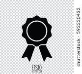 medal badge vector icon. flat... | Shutterstock .eps vector #592220432