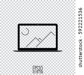 laptop icon vector. flat style...