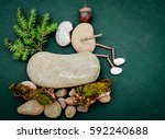 sticks and stones guy wearing a ... | Shutterstock . vector #592240688