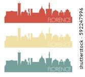 florence skyline retro vintage