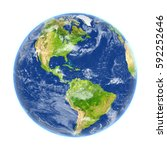 americas on planet earth. 3d... | Shutterstock . vector #592252646