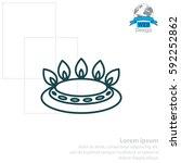 gas burner icon. vector design | Shutterstock .eps vector #592252862