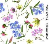 watercolor seamless pattern... | Shutterstock . vector #592267052