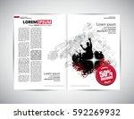 brochure layout | Shutterstock .eps vector #592269932