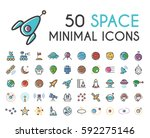 set of 50 minimalistic solid...