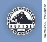 nuptse  mountain symbol ... | Shutterstock .eps vector #592280642