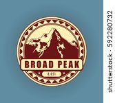 broad peak  mountain symbol ... | Shutterstock .eps vector #592280732