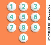 numbers set. vector.   Shutterstock .eps vector #592282718