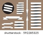 collection of vector ribbons ... | Shutterstock .eps vector #592285325