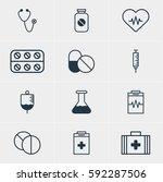 illustration of 12 medical... | Shutterstock . vector #592287506
