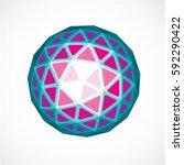 dimensional vector purple low... | Shutterstock .eps vector #592290422