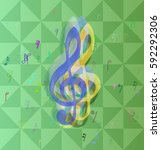 musical note texture template | Shutterstock .eps vector #592292306