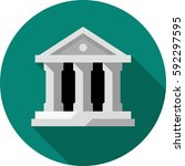 bank symbol   flat color series | Shutterstock .eps vector #592297595