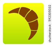 croissant simple sign. vector.... | Shutterstock .eps vector #592305032