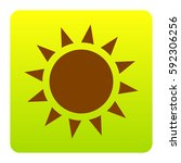 sun sign illustration. vector....