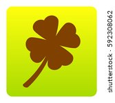 leaf clover sign. vector. brown ...