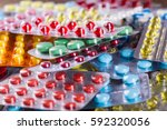 variety of medicines and drugs | Shutterstock . vector #592320056