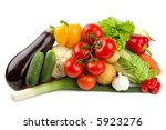 set of different vegetables... | Shutterstock . vector #5923276