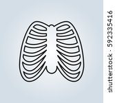 human ribs breast icon | Shutterstock .eps vector #592335416