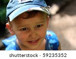 smiling child with a butterfly... | Shutterstock . vector #59235352