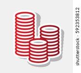 money sign illustration. vector.... | Shutterstock .eps vector #592353812