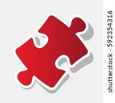 puzzle piece sign. vector. new...
