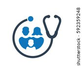 family healthcare icon  | Shutterstock .eps vector #592359248