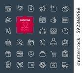 shopping malls  retail  ... | Shutterstock .eps vector #592368986