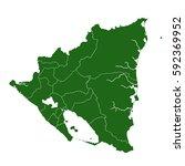nicaragua green map | Shutterstock .eps vector #592369952